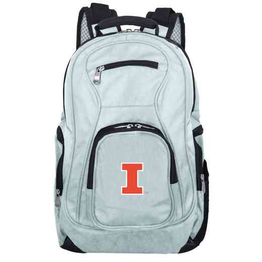 CLILL704-GRAY: NCAA Illinois Fighting Illini Backpack Laptop