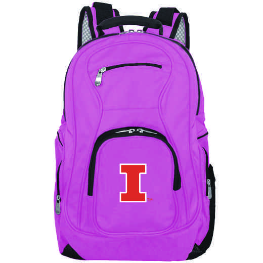 CLILL704-PINK: NCAA Illinois Fighting Illini Backpack Laptop