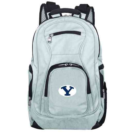 CLBYL704-GRAY: NCAA Brigham Young Cougars Backpack Laptop