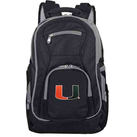 CLMUL708: NCAA Miami Hurricanes Trim color Laptop Backpack