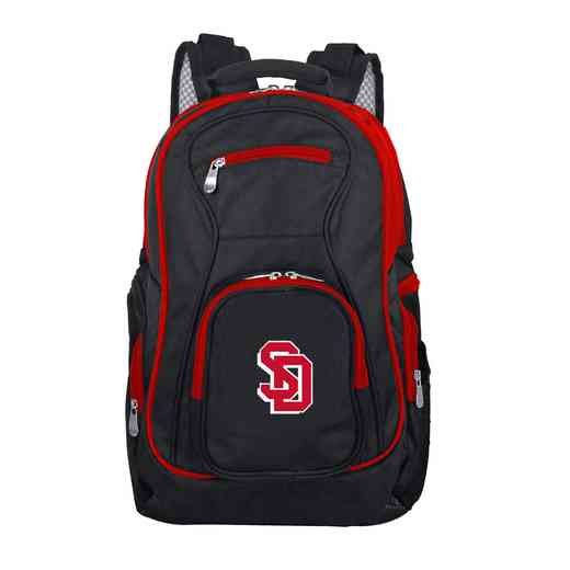 CLSDL708: NCAA South Dakota Coyotes Trim color Laptop Backpack