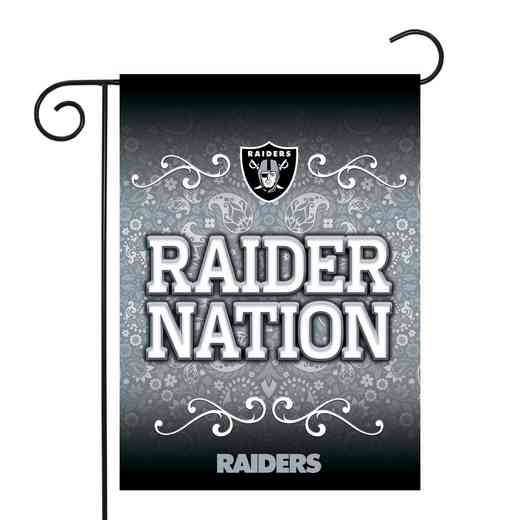 GF1701-P: RICO Raiders GARDEN FLAG W/POLE
