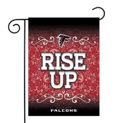 GF2001-P: RICO Falcons GARDEN FLAG W/POLE