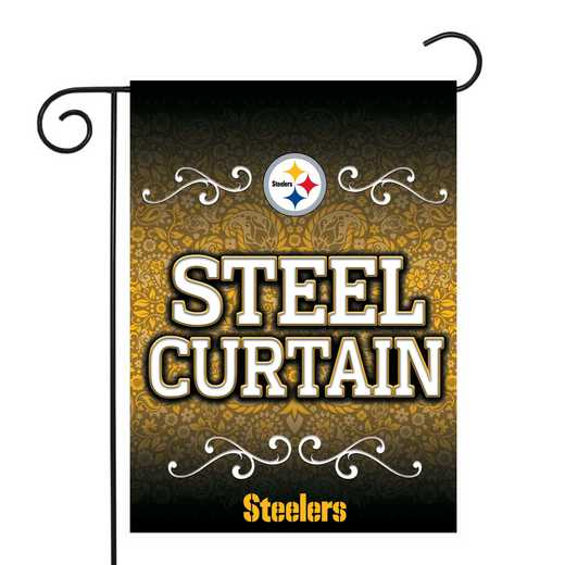 GF2301-P: RICO Steelers GARDEN FLAG W/POLE