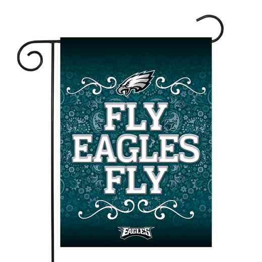 GF2501-P: RICO Eagles GARDEN FLAG W/POLE