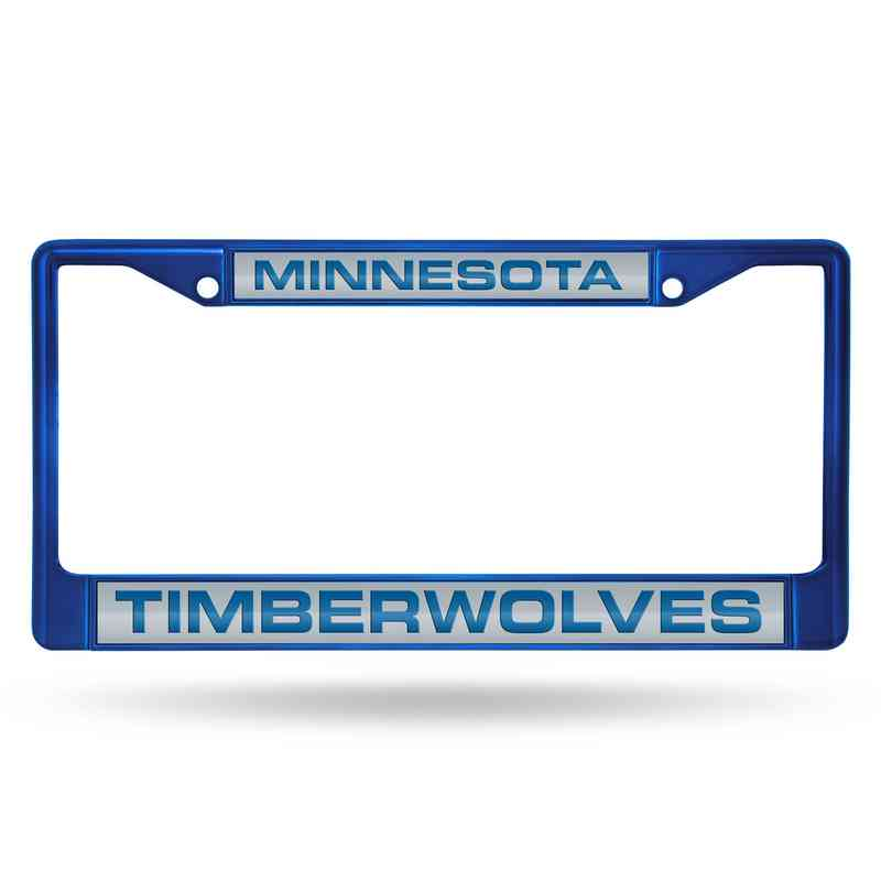 FNFCCL94003BL: RICO TIMBERWOLVES BLUE LASER COLORED CHROME FRAME