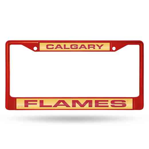 FNFCCL7602RD: RICO FLAMES RED LASER COLORED CHROME FRAME