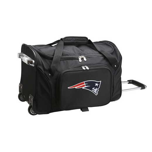 NFNPL401: NFL New England Patriots 22IN WHLD Duffel Nylon Bag