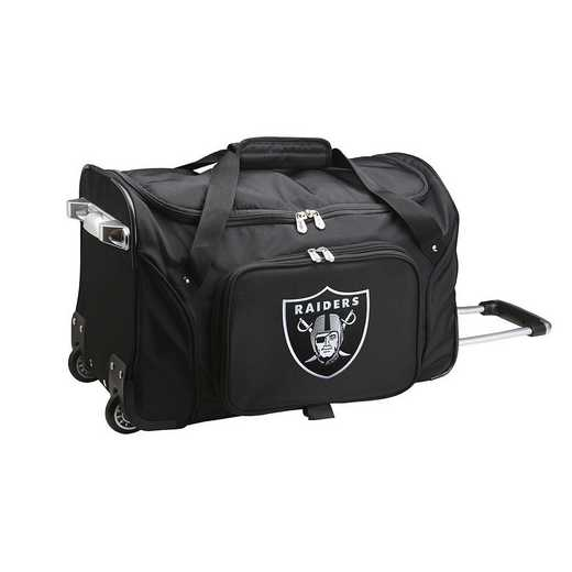 NFORL401: NFL Oakland Raiders 22IN WHLD Duffel Nylon Bag