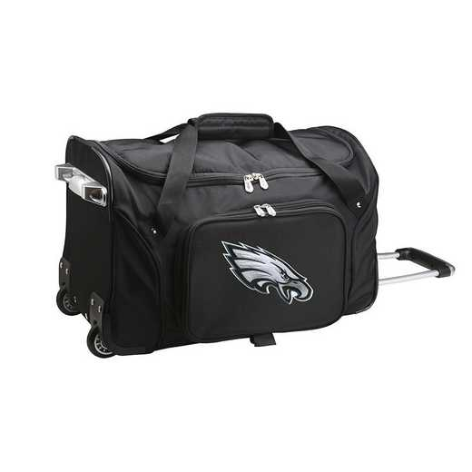 NFPEL401: NFL Philadelphia Eagles 22IN WHLD Duffel Nylon Bag
