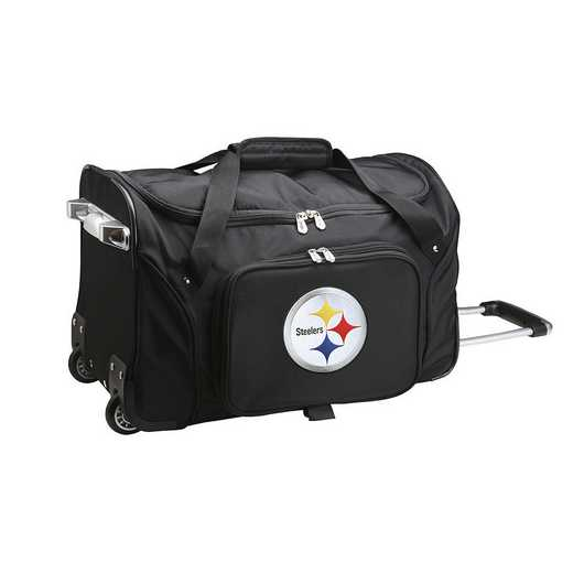 NFPSL401: NFL Pittsburgh Steelers 22IN WHLD Duffel Nylon Bag