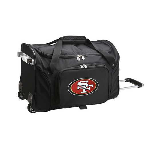 NFSFL401: NFL San Francisco 49ers 22IN WHLD Duffel Nylon Bag