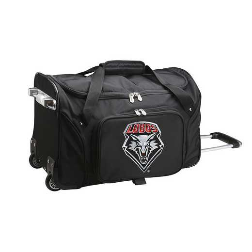 CLNML401: NCAA New Mexico Lobos 22IN WHLD Duffel Nylon Bag