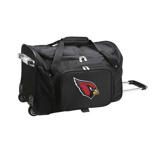 NFACL401: NFL Arizona Cardinals 22IN WHLD Duffel Nylon Bag
