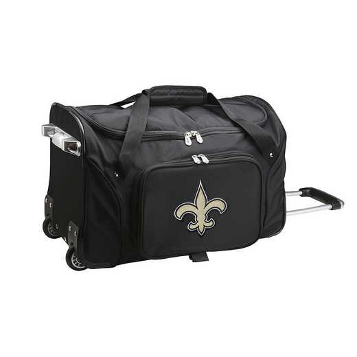 NFNSL401: NFL New Orleans Saints 22IN WHLD Duffel Nylon Bag