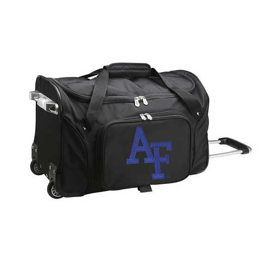 CLAFL401: NCAA Air Force Falcons 22IN WHLD Duffel Nylon Bag