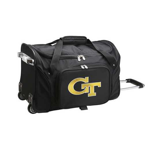 CLGTL401: NCAA Georgia Tech Yellow Jackets 22IN WHLD Duffel Nylon Bag