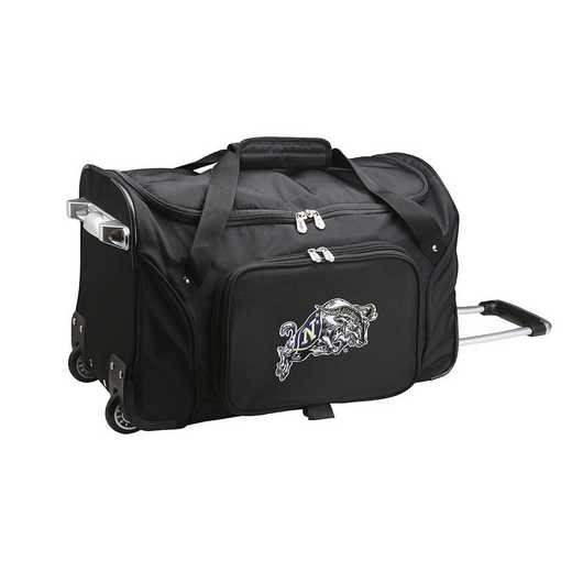 CLNVL401: NCAA Navy Midshipmen 22IN WHLD Duffel Nylon Bag