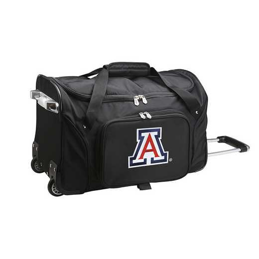 CLUAL401: NCAA Arizona Wildcats 22IN WHLD Duffel Nylon Bag