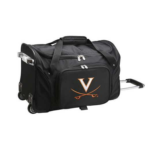 CLVIL401: NCAA Virginia Cavaliers 22IN WHLD Duffel Nylon Bag