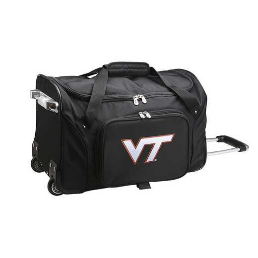 CLVTL401: NCAA Virginia Tech Hokies 22IN WHLD Duffel Nylon Bag