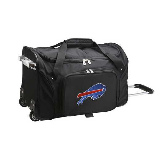NFBBL401: NFL Buffalo Bills 22IN WHLD Duffel Nylon Bag