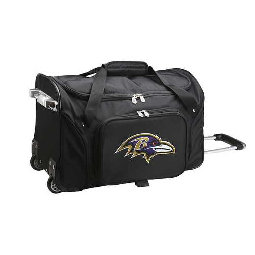NFBRL401: NFL Baltimore Ravens 22IN WHLD Duffel Nylon Bag