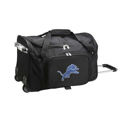 NFDLL401: NFL Detroit Lions 22IN WHLD Duffel Nylon Bag
