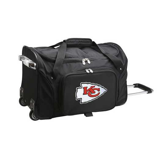 NFKCL401: NFL Kansas City Chiefs 22IN WHLD Duffel Nylon Bag