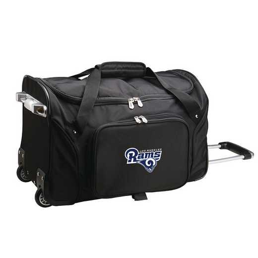 NFLRL401: NFL Los Angeles Rams 22IN WHLD Duffel Nylon Bag