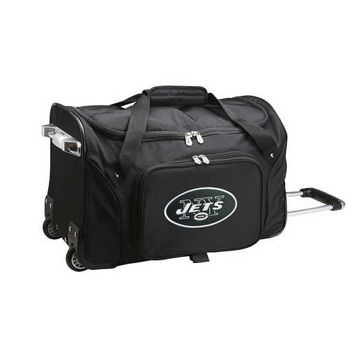 NFNJL401: NFL New York Jets 22IN WHLD Duffel Nylon Bag