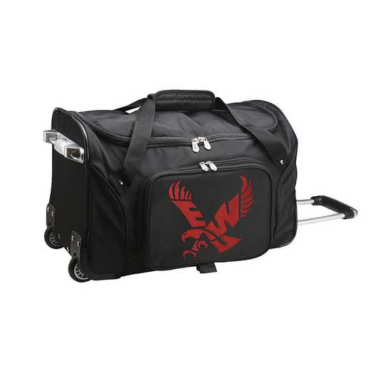 CLEWL401: NCAA Eastern Washington Eagles 22IN WHLD Duffel Nylon Bag