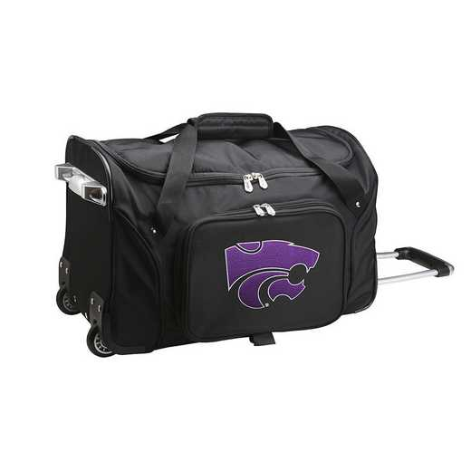 CLKSL401: NCAA Kansas State Wildcats 22IN WHLD Duffel Nylon Bag