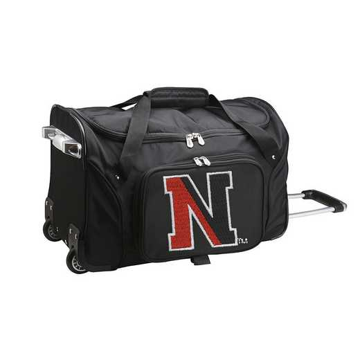 CLNEL401: NCAA Northeastern Huskies 22IN WHLD Duffel Nylon Bag