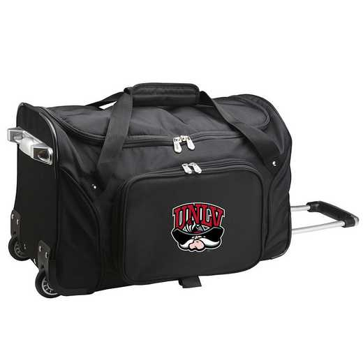 CLNLL401: NCAA UNLV Rebels 22IN WHLD Duffel Nylon Bag
