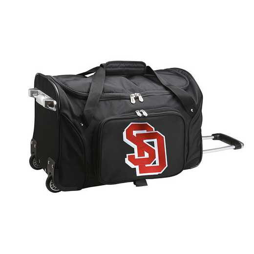 CLSDL401: NCAA South Dakota Coyotes 22IN WHLD Duffel Nylon Bag