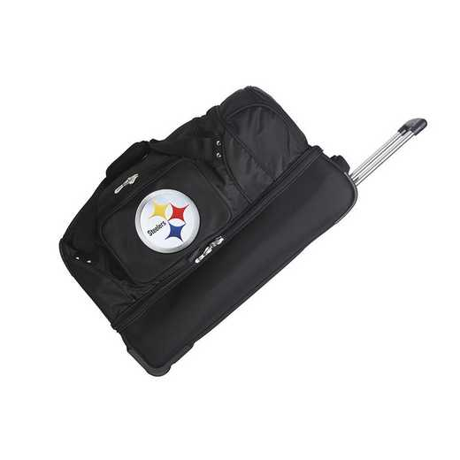 NFPSL300: NFL Pittsburgh Steelers 27IN WHLD Duffel Nylon bag