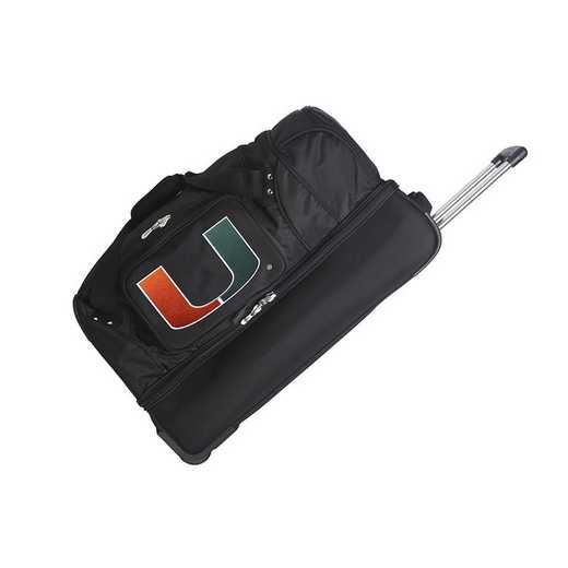 CLMUL300: NCAA Miami Hurricanes 27IN WHLD Duffel Nylon bag
