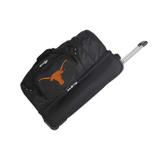 CLTXL300: NCAA Texas Longhorns 27IN WHLD Duffel Nylon bag