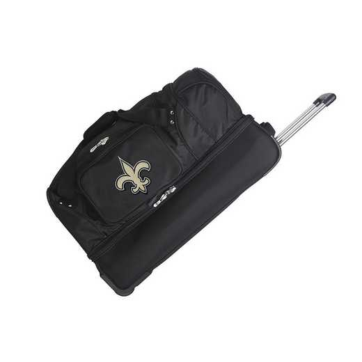 NFNSL300: NFL New Orleans Saints 27IN WHLD Duffel Nylon bag