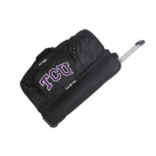 CLTCL300: NCAA TCU Horned Frogs 27IN WHLD Duffel Nylon bag