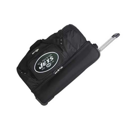 NFNJL300: NFL New York Jets 27IN WHLD Duffel Nylon bag
