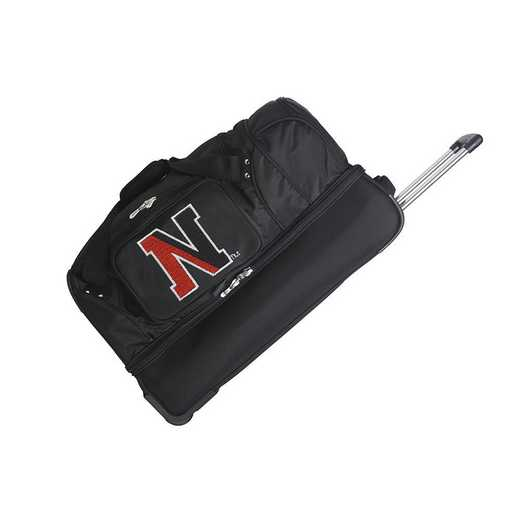 CLNEL300: NCAA Northeastern Huskies 27IN WHLD Duffel Nylon bag