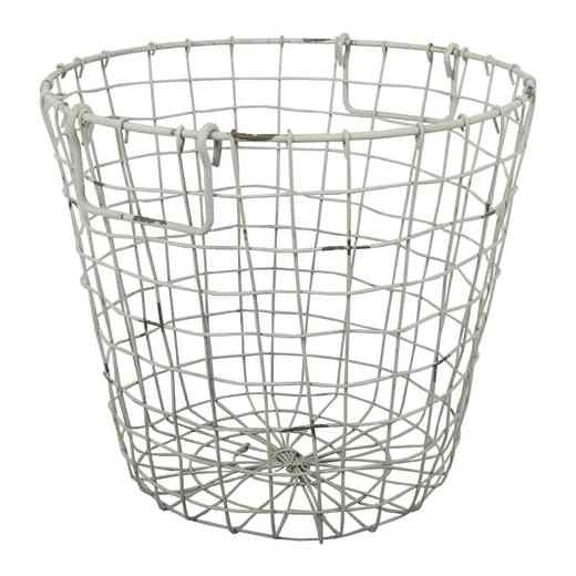 D42474-WHIT: AB WHITE WIRE BASKET
