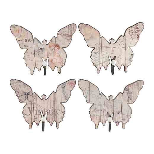 35325: AB S/4 VINTAGE CREAM BUTTERFLY HOOKS-LG