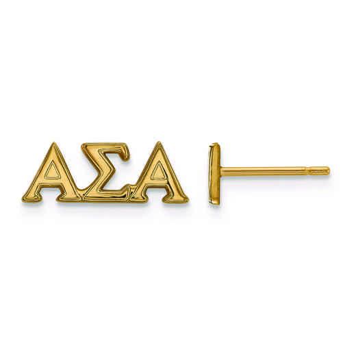 GP005ASI: SS w/GP LogoArt Alpha Sigma Alpha XS Post Earrings