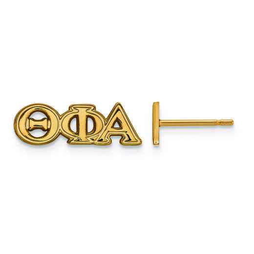 GP005TPA: SS w/GP LogoArt Theta Phi Alpha XS Post Earrings