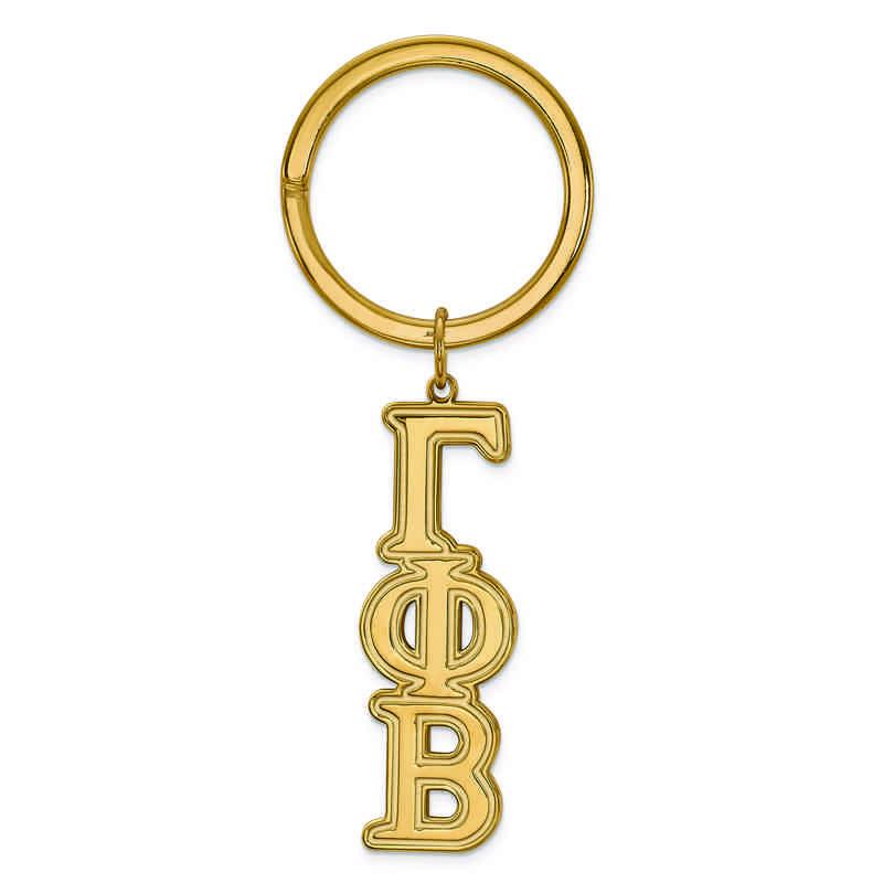 GP010GPB: SS w/GP LogoArt Gamma Phi Beta Key Chain