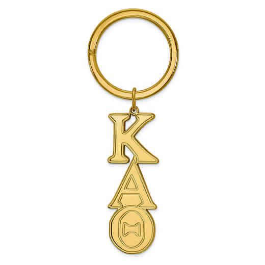 GP010KAT: SS w/GP LogoArt Kappa Alpha Theta Key Chain