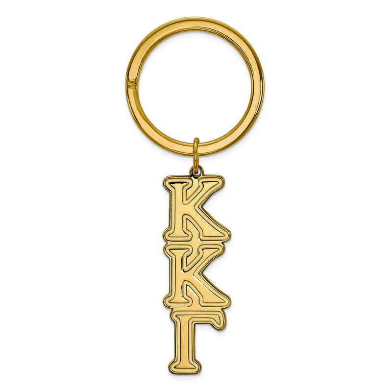 GP010KKG: SS w/GP LogoArt Kappa Kappa Gamma Key Chain